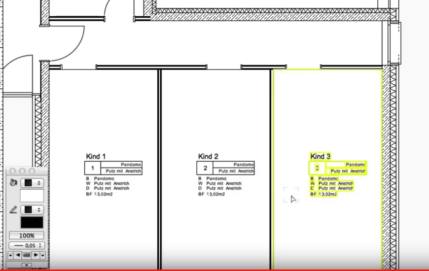 Schritt 8 Räume und Flächen[R